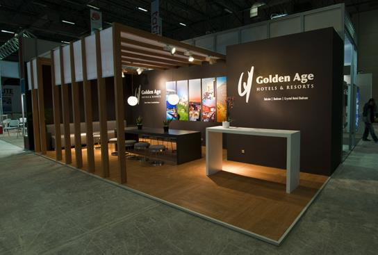 A 24 exhibition booth